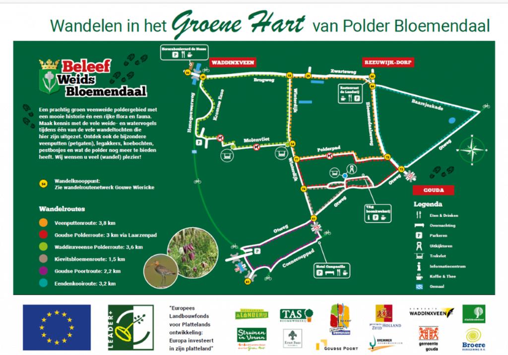 Wandelen in polder Bloemendaal